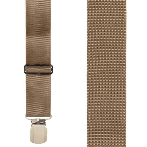 Tan Work Suspenders - Front View