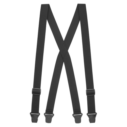 Undergarment Suspenders - BLACK - Airport Friendly Full View