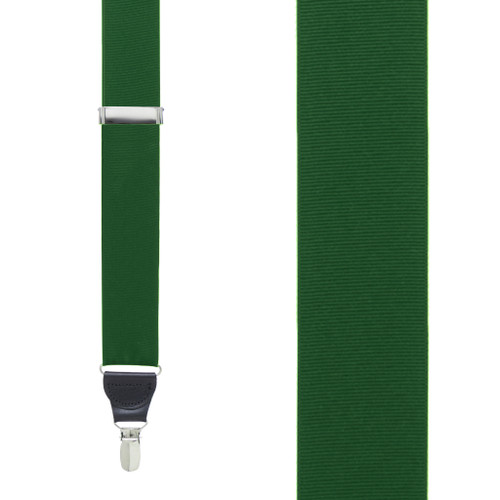 Grosgrain Suspenders in Forest Green - Front View