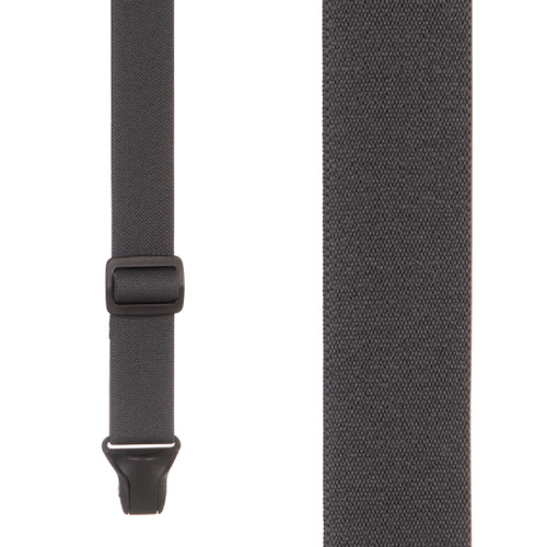 BuzzNot Suspenders in Grey - Front View