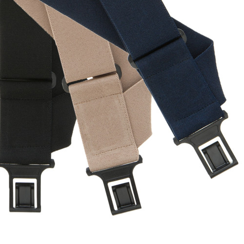 Perry Suspenders - Front View - Side Clip Big & Tall All Colors