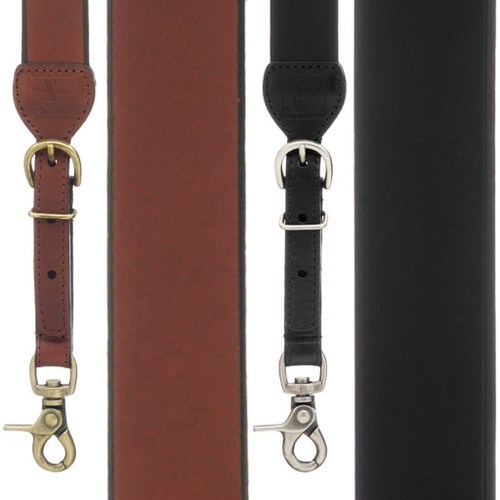 Plain All Leather Galluses - All Colors
