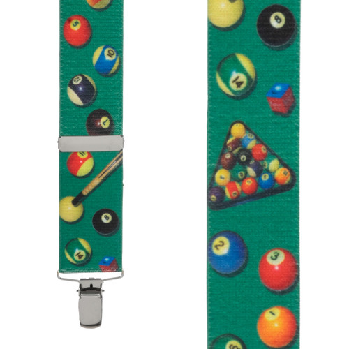 Pool Table Suspenders - Front View