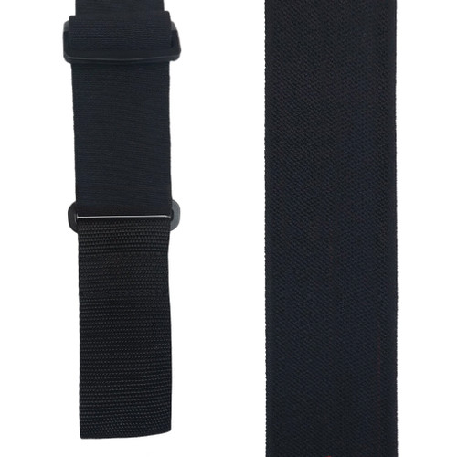 Welch Super Tuff Suspenders in Black - Front View