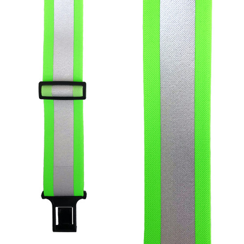 Perry Reflective Safety Suspenders in Lime - Front View