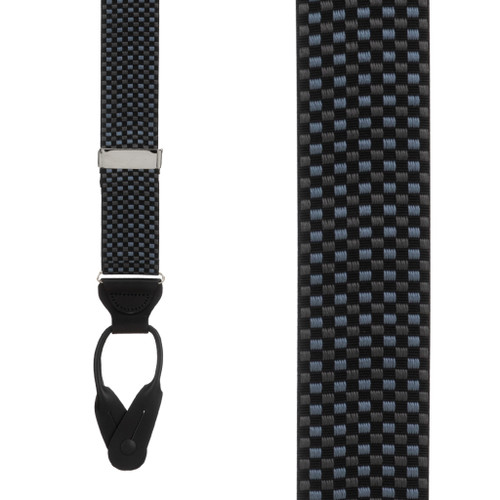 Fairfield Grosgrain BUTTON Suspenders - Front View