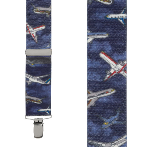 Nighttime Airplane Suspenders - Front View