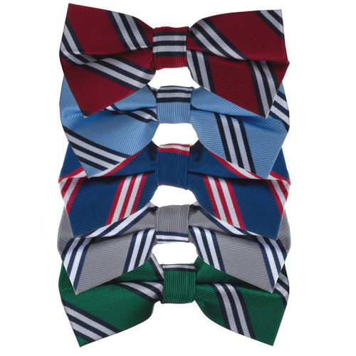 Multi-Stripe Bow Ties by Oxford Kent - All Colors