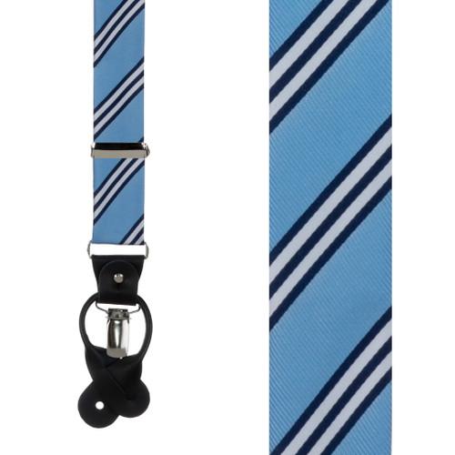 Copenhagen & Navy Multi-Stripe Suspenders - Front View