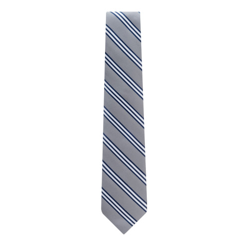 Grey & Navy Multi-Stripe Necktie