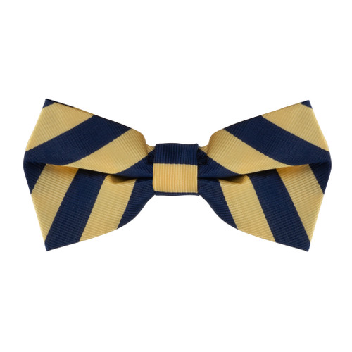 Corn & Navy Striped Bow Tie