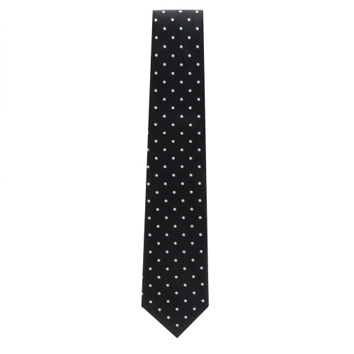 Black With White Polka Dots Necktie