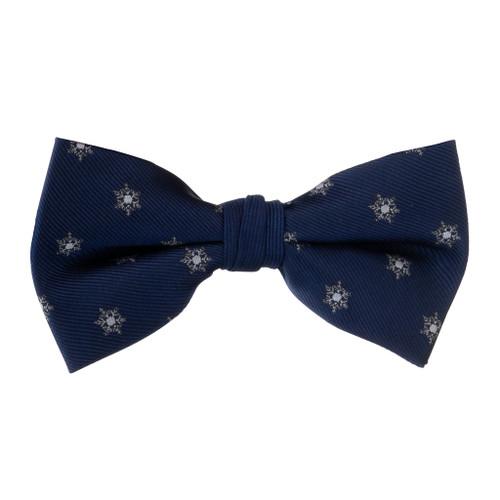 Snowflake on Blue Bow Tie