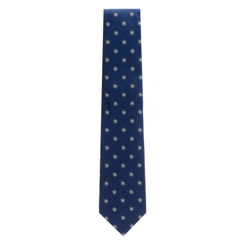 Snowflakes on Navy Necktie