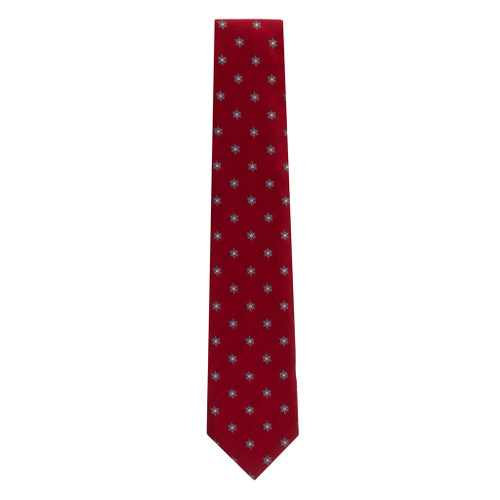 Snowflakes on Red Necktie