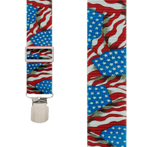 Old Glory Heavy Duty Work Suspenders - Front View