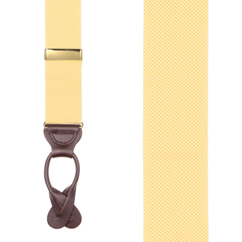 Oxford Cloth Suspenders in Yellow - Front View