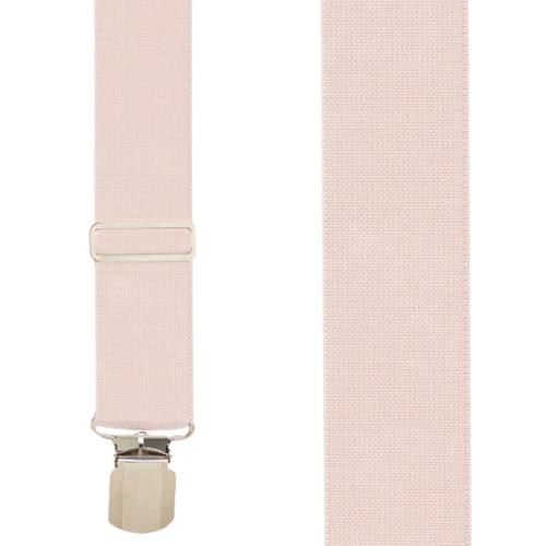 Undergarment Suspenders - BEIGE - Pin Clip Front View