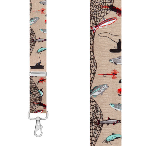 FISHERMAN 1.5-Inch Wide Trigger Snap Suspenders - Front View