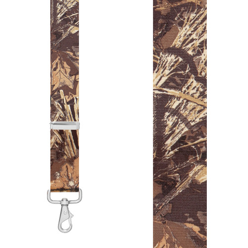 CAMO MAX-4 1.5-Inch Wide Trigger Snap Suspenders - Front View
