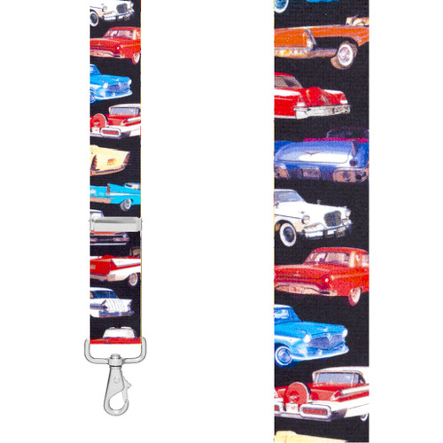 Class of 57 1.5-Inch Wide Trigger Snap Suspenders - Front View