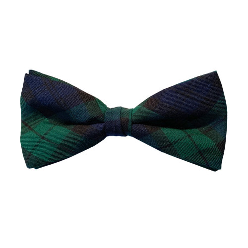 Tartan Bow Tie in Black Watch
