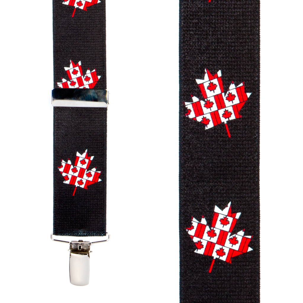 Canadien Flag Suspenders - Front View