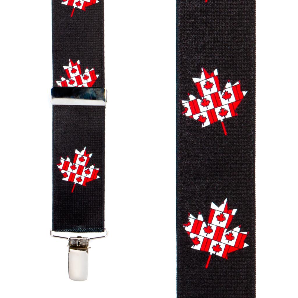 Canadien Flag Suspenders - Front View