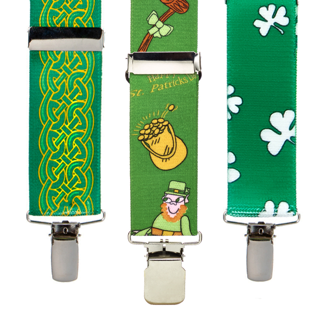 Irish and St. Patricks Day Suspenders