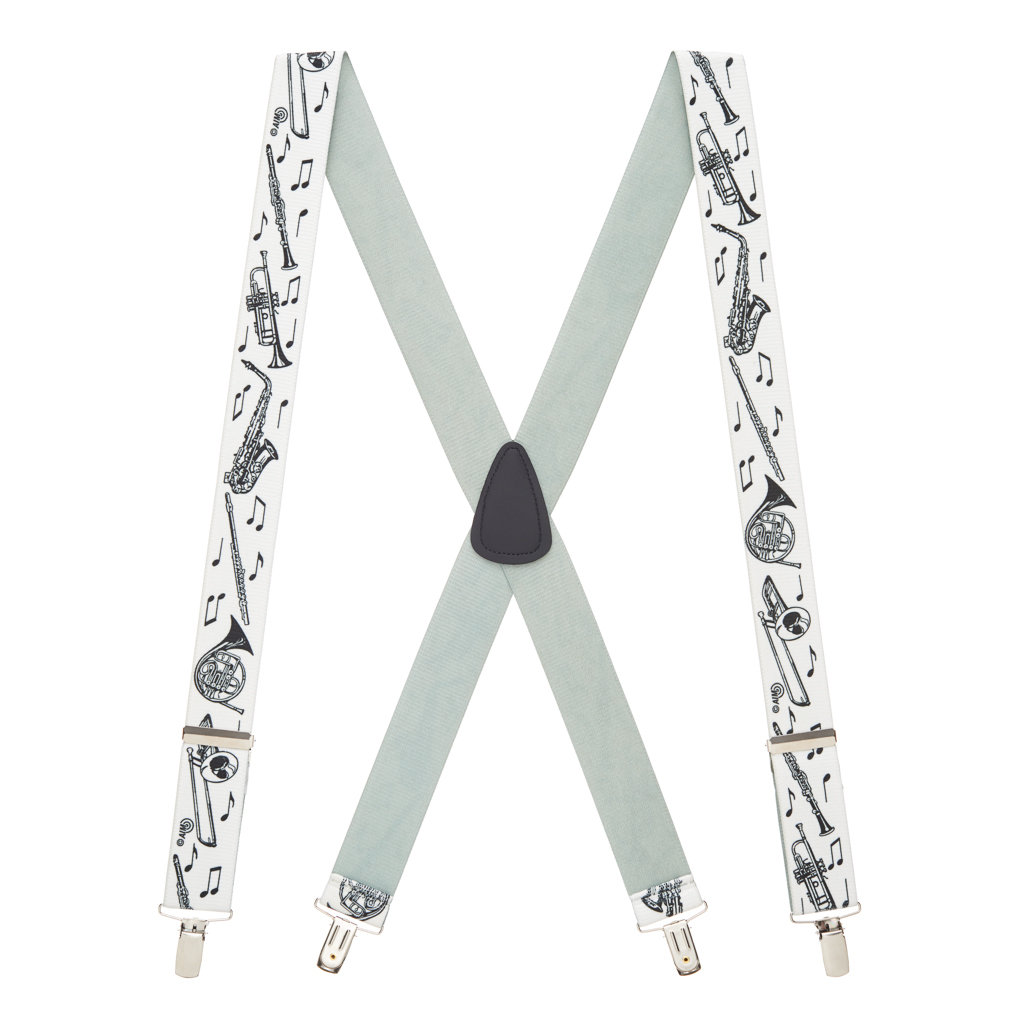 Musical Instruments Suspenders - Full View