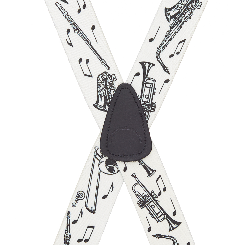 Musical Instruments Suspenders - Rear View