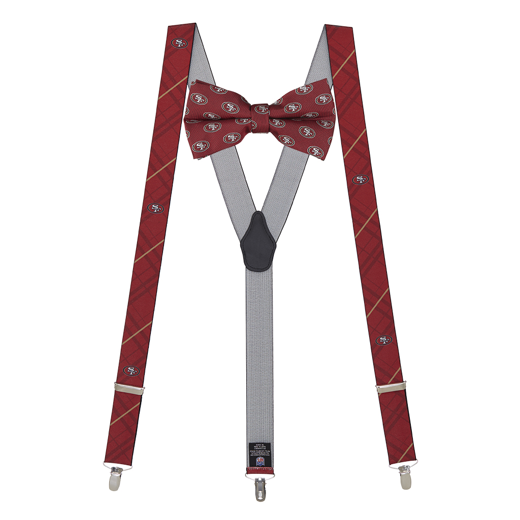 San Francisco 49ers Bow Tie & Suspenders Set - Full View