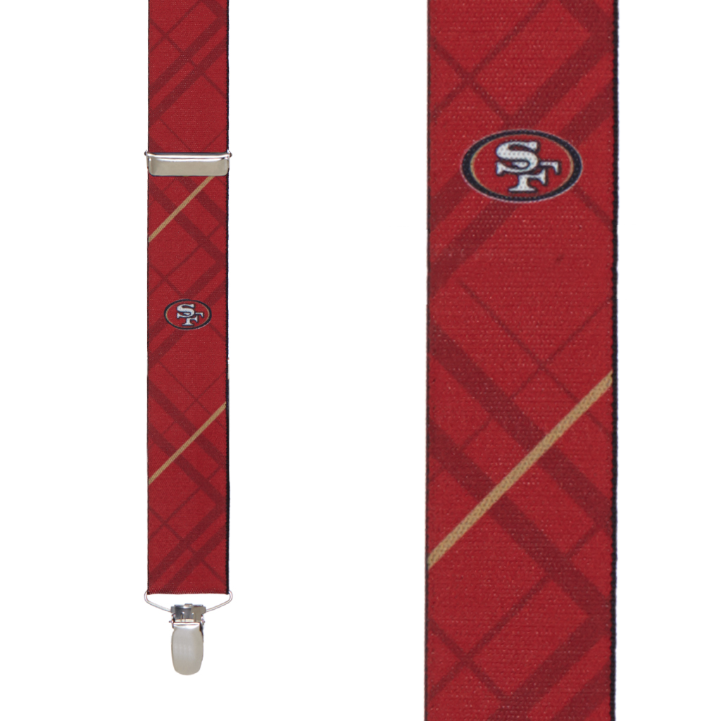 San Francisco 49ers Suspenders - Front View