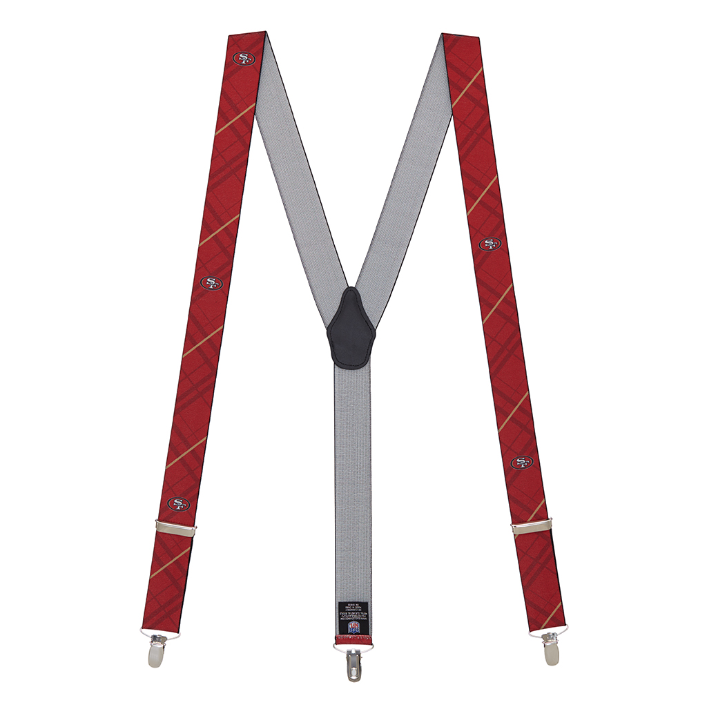 49ers Suspenders - Full View