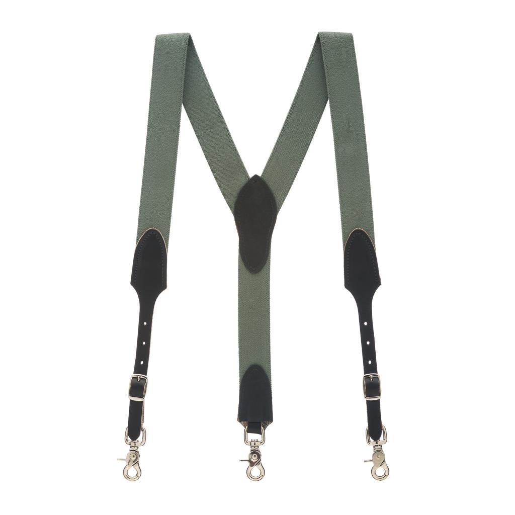 Rugged Comfort Suspenders in Cactus Green - Full View