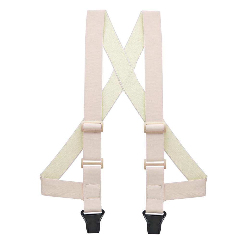 Undergarment Suspenders - BEIGE - Airport Friendly SIDE CLIP - Front View