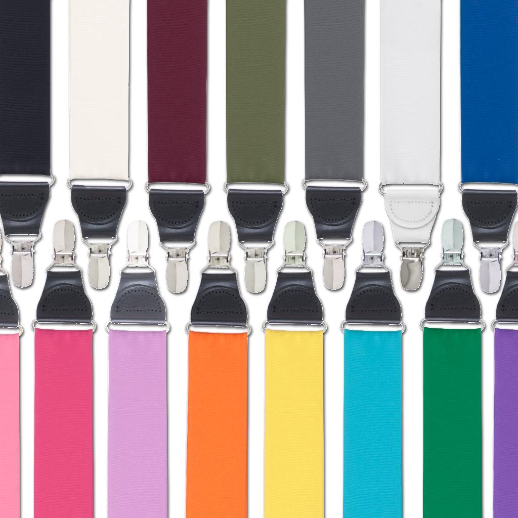 Grosgrain Drop Clip Suspenders