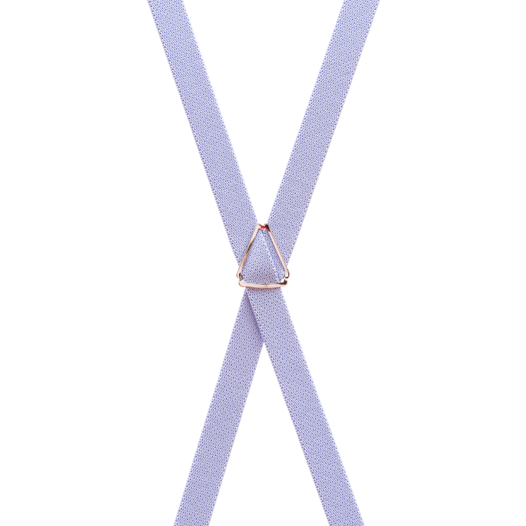 1/2 Inch Wide Skinny Suspenders in Lilac - Rear View