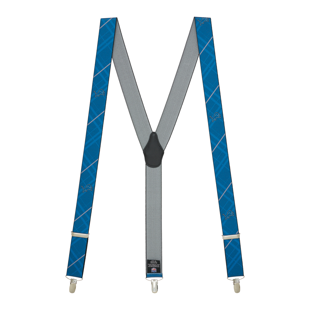 Detroit Lions Suspenders - Full View