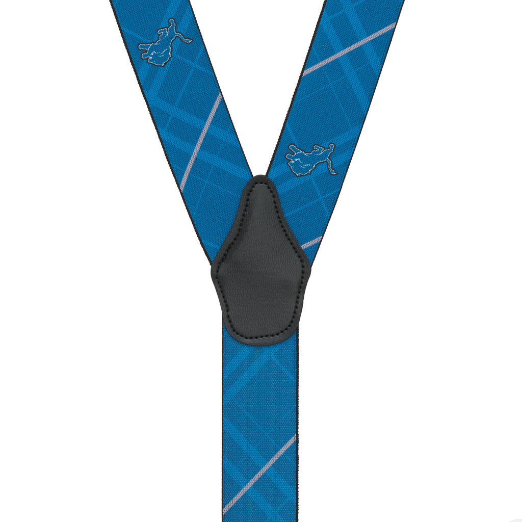 Detroit Lions Suspenders - Rear View