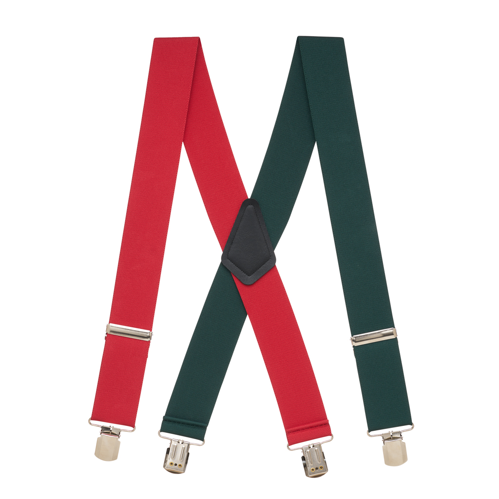 Red & Green Suspenders - Full View