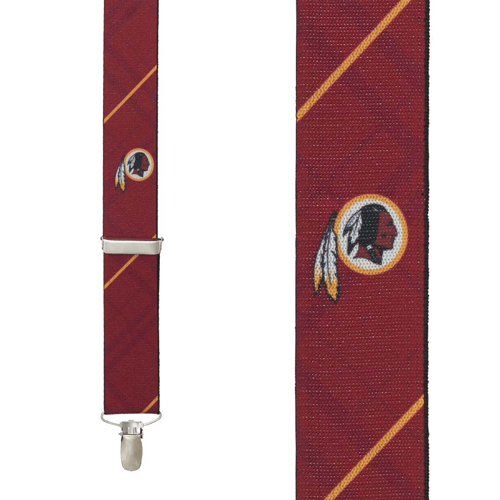Washington Redskins Suspenders - Front View