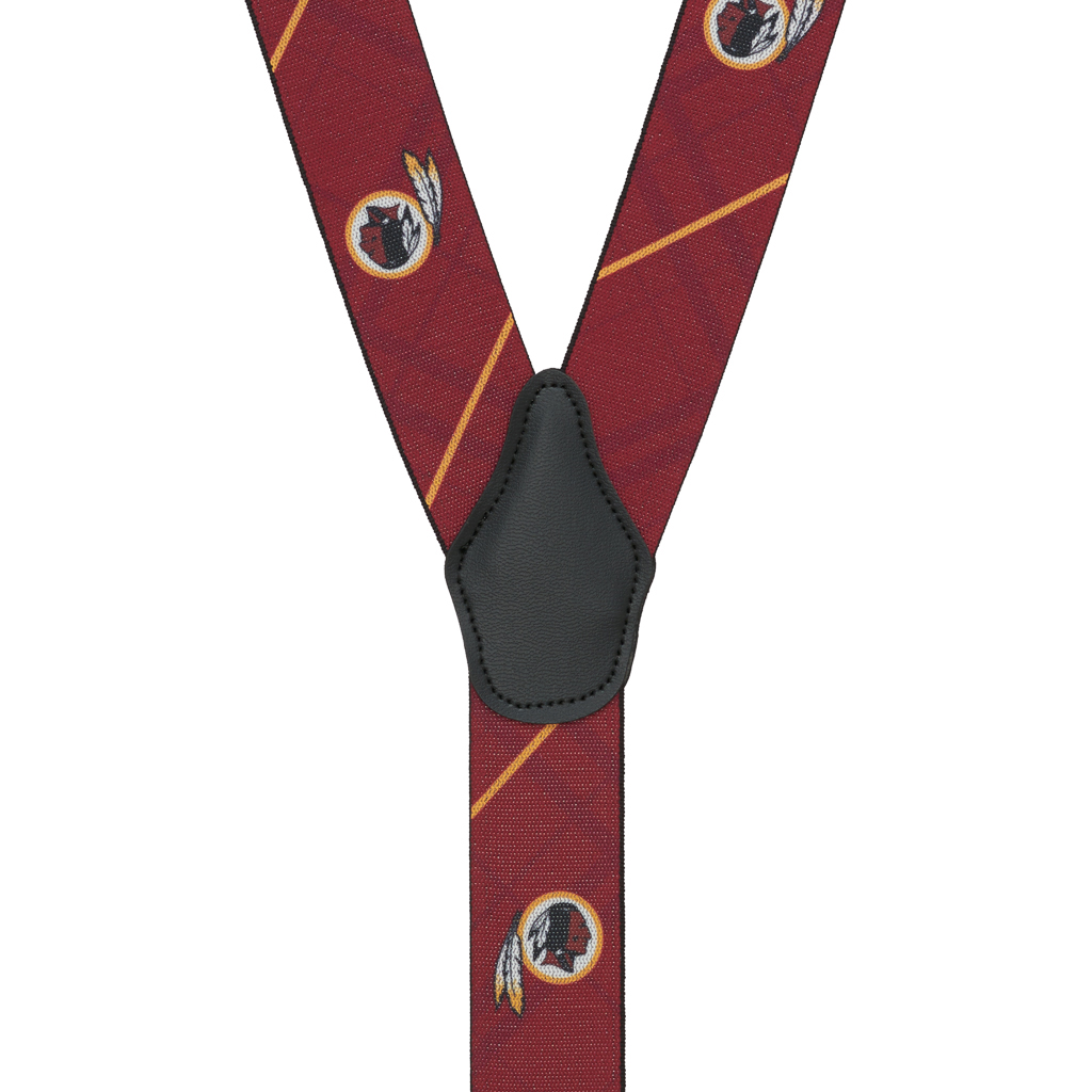 Washington Redskins Suspenders - Rear View