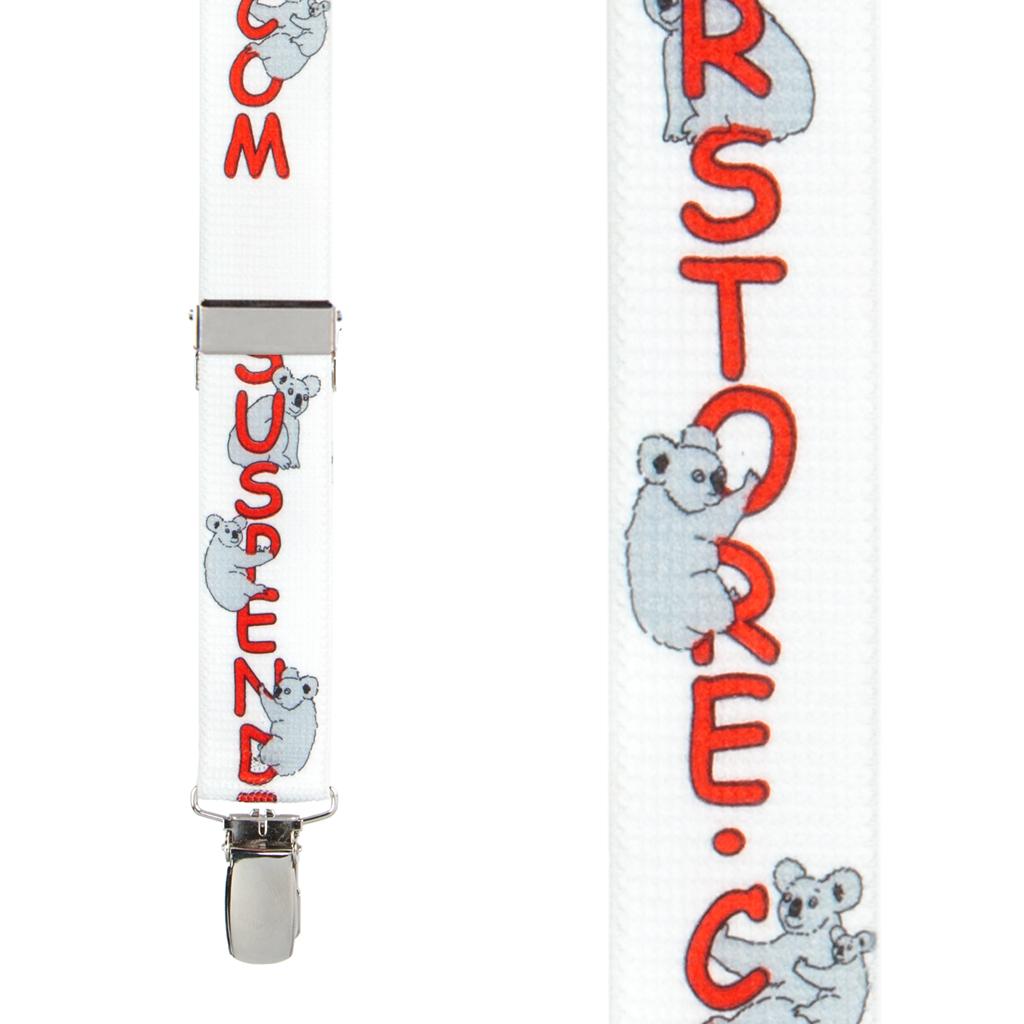 Koala Suspenders - Front View