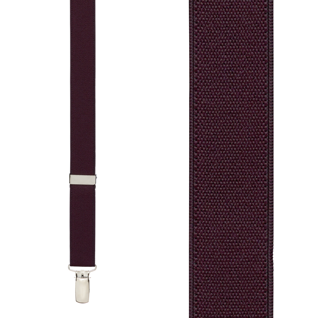 Suspenders in Eggplant - Front View