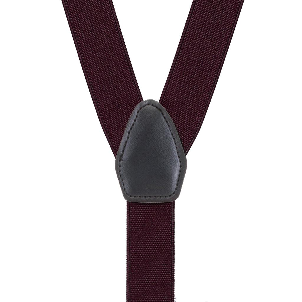 Suspenders in Eggplant - Rear View