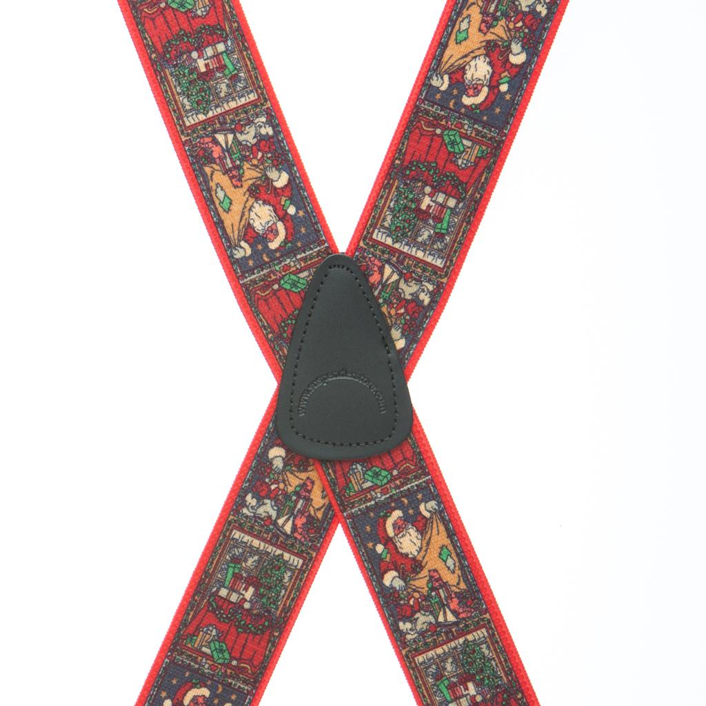 Kris Kringle Dressy Christmas Suspenders - Clip - Rear View