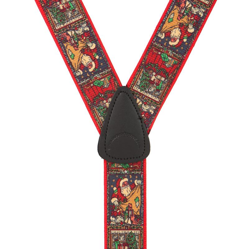 Kris Kringle Dressy Christmas Suspenders - Button - Rear View
