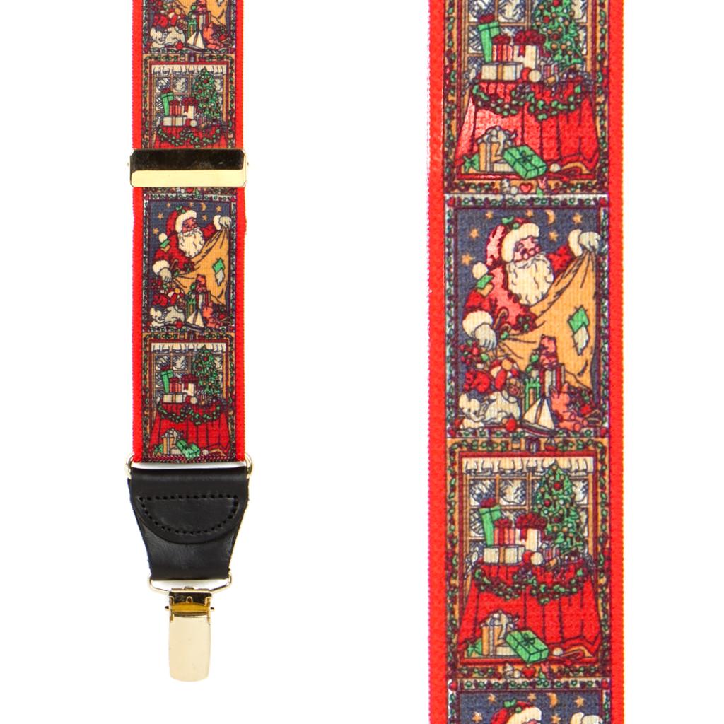 Kris Kringle Dressy Christmas Suspenders - Clip - Front View