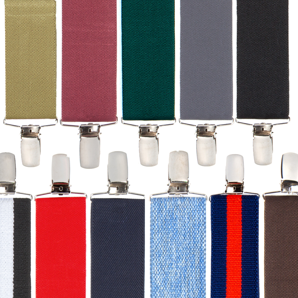 Big & Tall 1.5-Inch Finger Clip Suspenders - All Colors